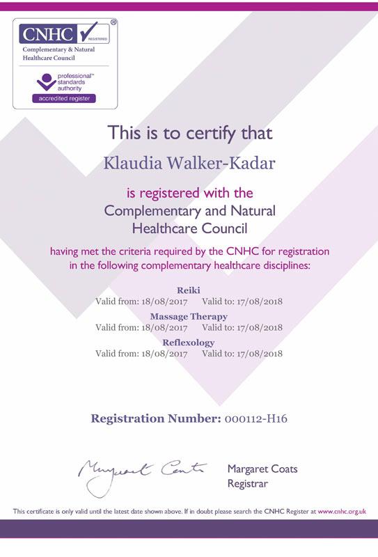kadar_klaudia_reiki_massage_reflexology_cnhc
