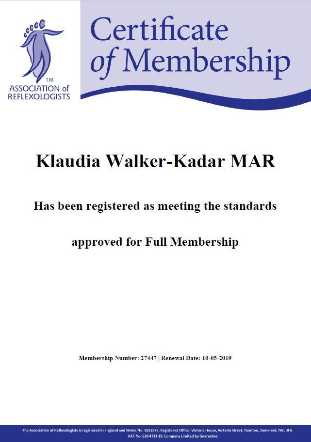 Association_of_Reflexologists_Klaudia_Walker_Kadar_2019