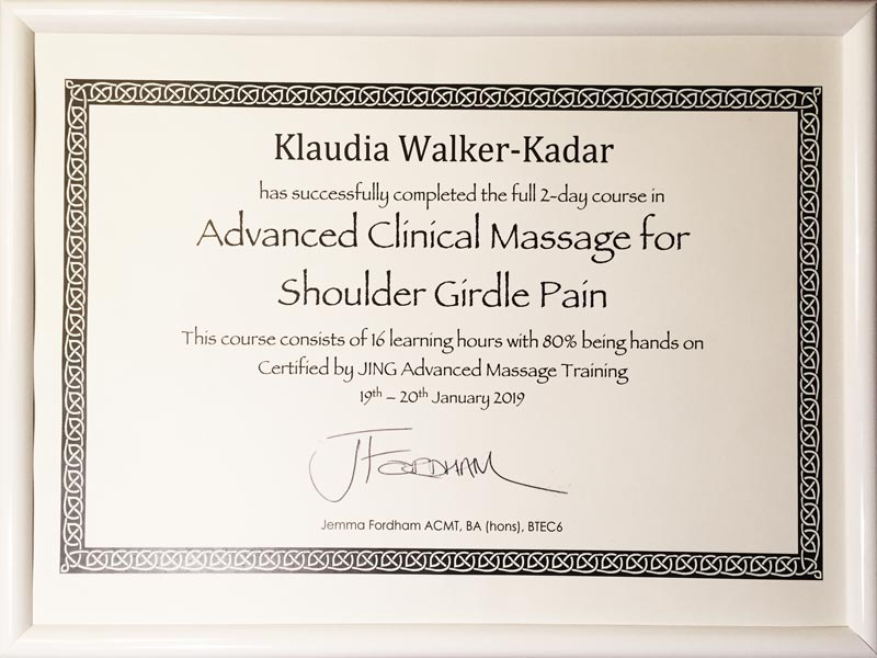 Advanced_Clinical_Massage_for_Shoulder_Gridle_Pain_London_Klaudia_Walker_Kadar