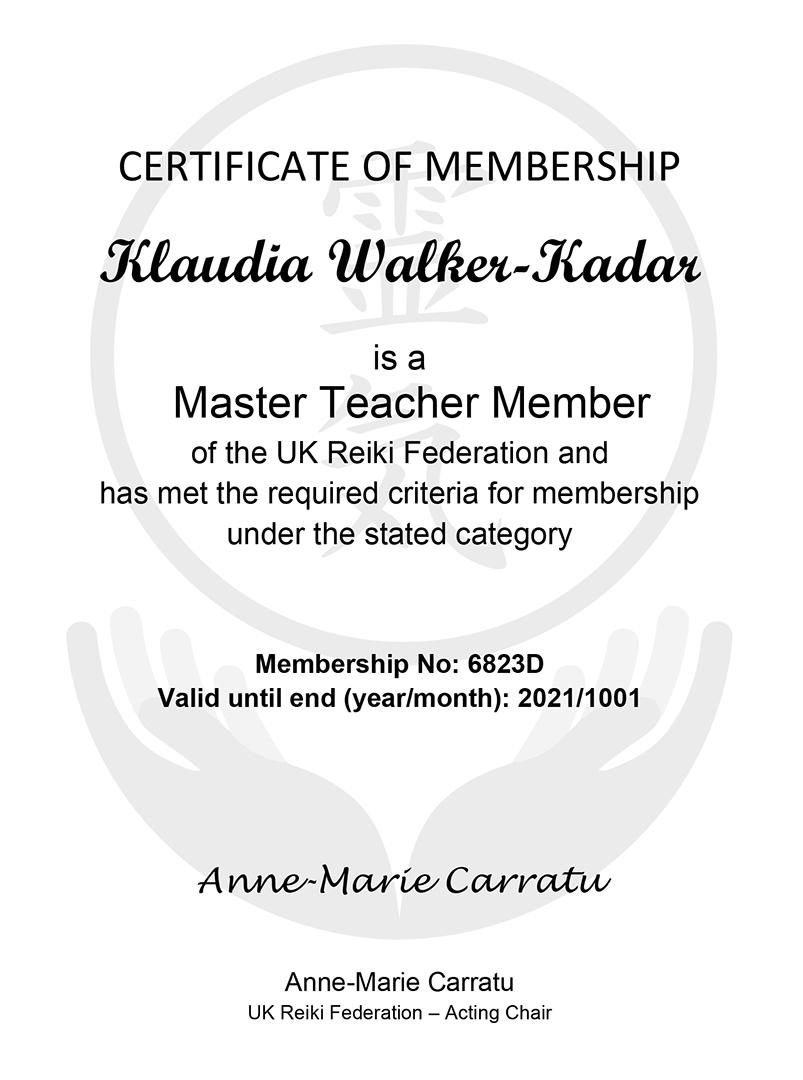 UK_Reiki_Federation_Klaudia_Kadar_Certificate_2019